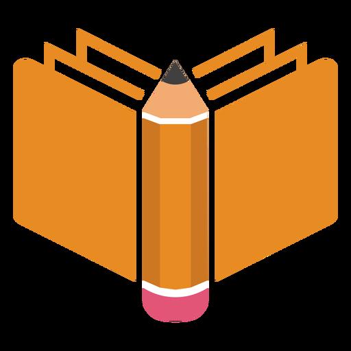 Logotipo lateral del libro a l?piz
