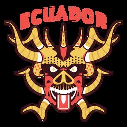 Pillaro mask ecuador flat