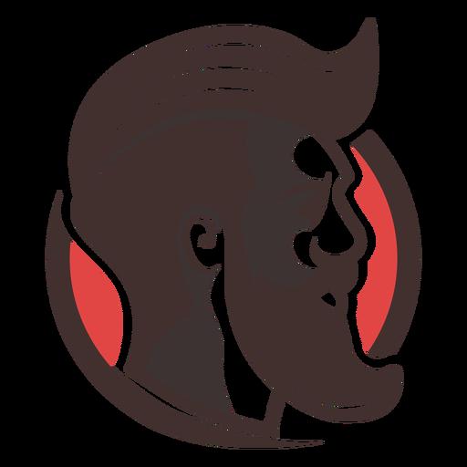 Logotipo de cara de barba puntiaguda