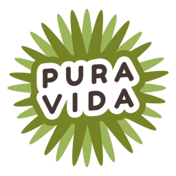 Pura vida costa rica badge
