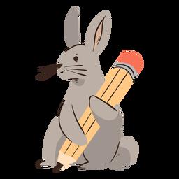 Personagem de lápis de coelho
