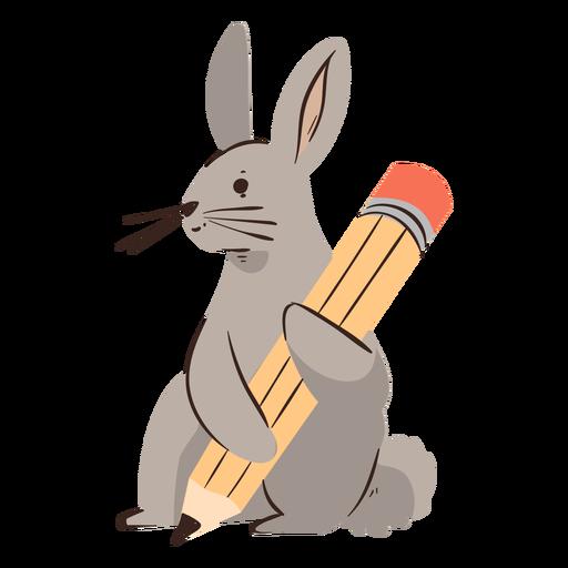Rabbit pencil character