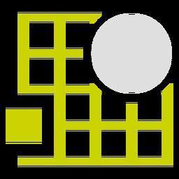 Logotipo da grade retângulo duotônico