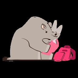 Rhino studying character