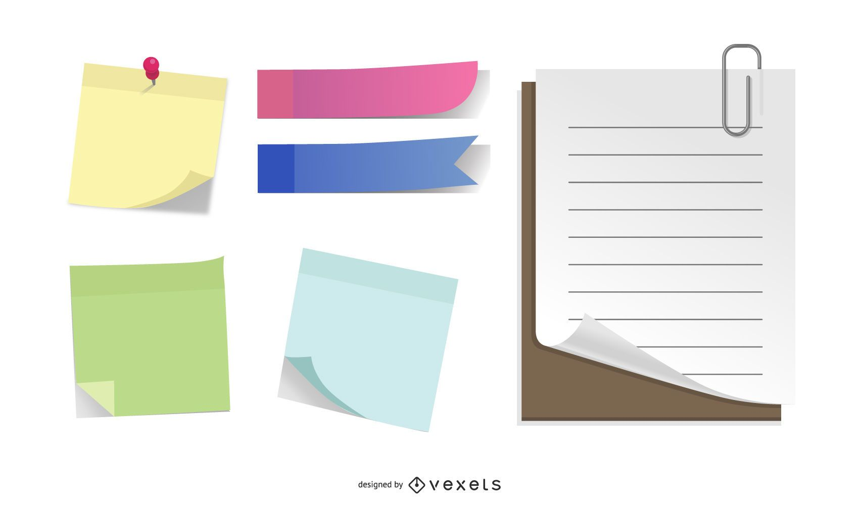 Set of paper accessories