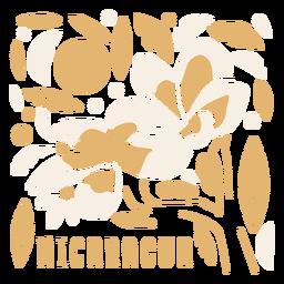Sacuanjoche flower nicaragua composition