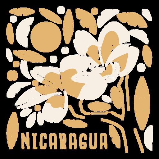 Sacuanjoche flower nicaragua composition Transparent PNG