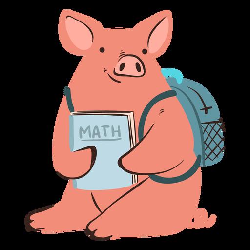 Carácter de cerdo de la escuela