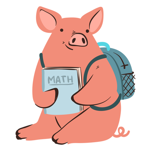 School pig character