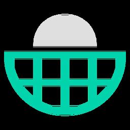 Logotipo de duotono de cuadrícula semicircular