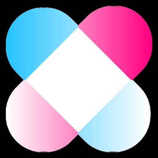 Forma de logotipo degradado