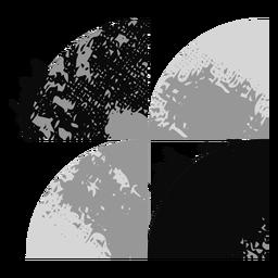 Logotipo de formas grunge
