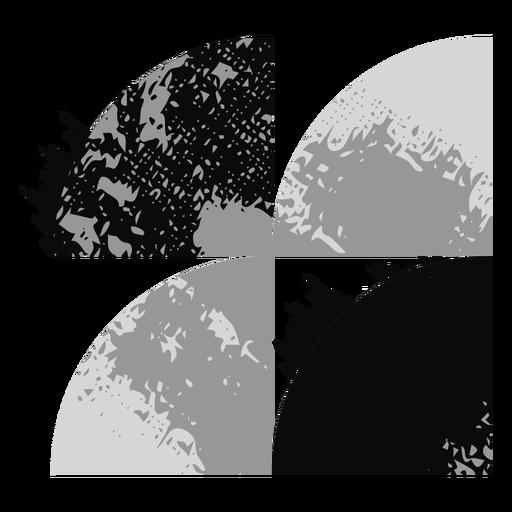 Logotipo de formas grunge Transparent PNG