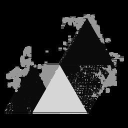 Formen Grunge Dreieck Logo
