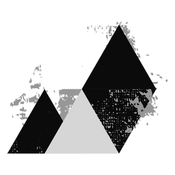 Logotipo do triângulo de formas grunge