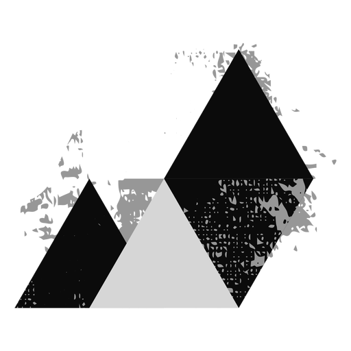 Shapes grunge triangle logo