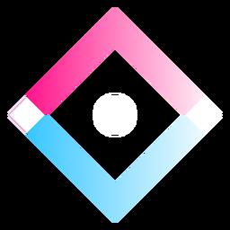 Quadratisches Farbverlaufslogo
