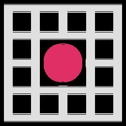 Logotipo do meio do círculo de grade quadrada