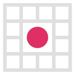 Square grid circle middle logo