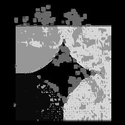 Square sparkle grunge logo
