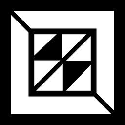 Logotipo abstrato quadrado