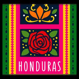 Ilustração de padrão têxtil honduras
