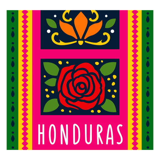 Ilustración de honduras patrón textil