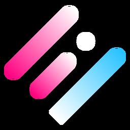 Logotipo gradiente de três linhas