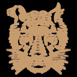 Tiger head curve stroke