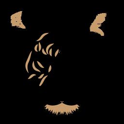 Duotono de cabeza de tigre