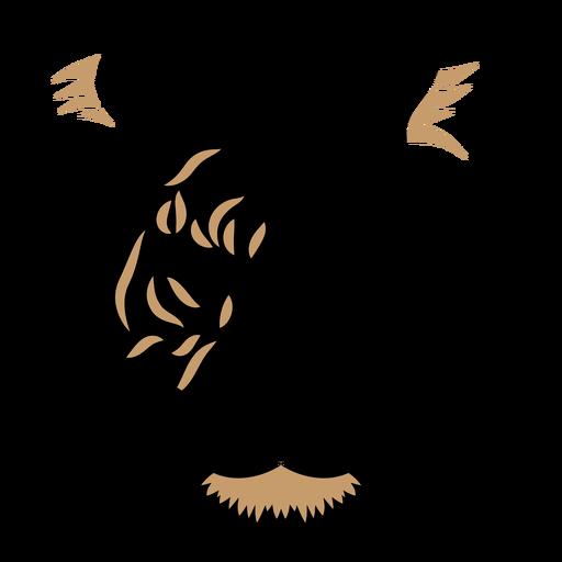 Tiger head duotone