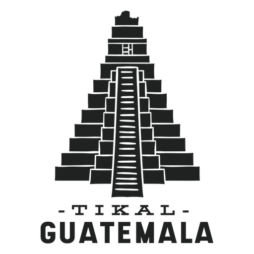 Tikal guatemala cut out