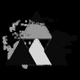 Logotipo de triángulo abstracto grunge