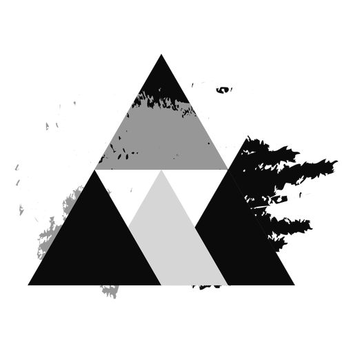Triangle abstract grunge logo