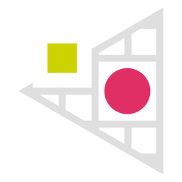 Logotipo da grade do triângulo
