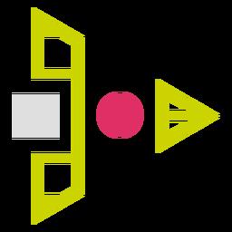 Logotipo de formas de cuadrícula triangular