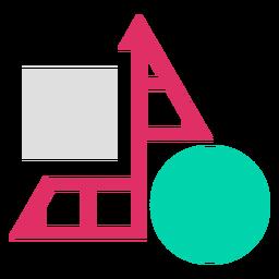 Logotipo de cuadrícula de formas de triángulo