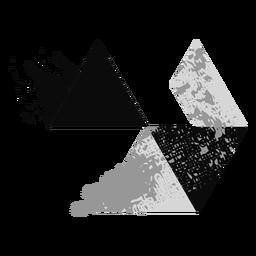 Logotipo da Triangles grunge