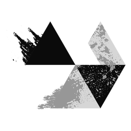 Logotipo de triángulos grunge