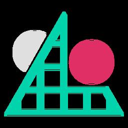 Logotipo de círculos de rejilla triangular