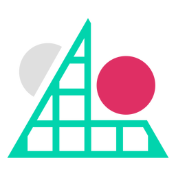 Triangular grid circles logo