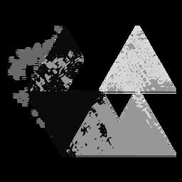 Logotipo do grunge de formas triangulares