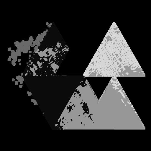 Triangular shapes grunge logo