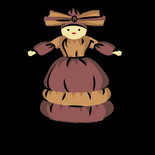 Ilustración de tusa doll honduras