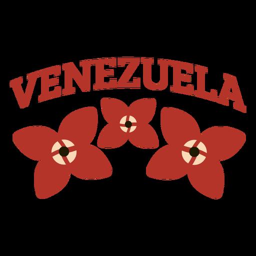 Venezuela flower lettering