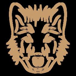 Golpe de curva de cabeça de lobo