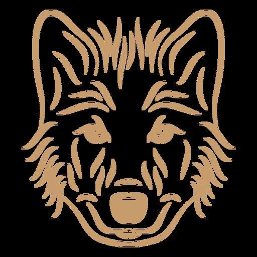 Trazo de curva de cabeza de lobo