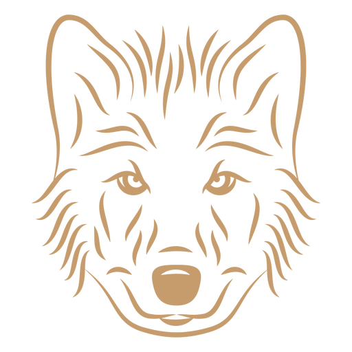 Wolf head curve stroke