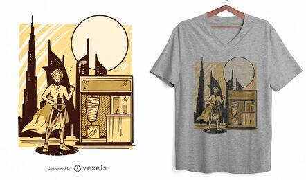 Dubai superhero t-shirt design