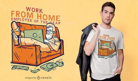 Diseño de camiseta de trabajo desde casa